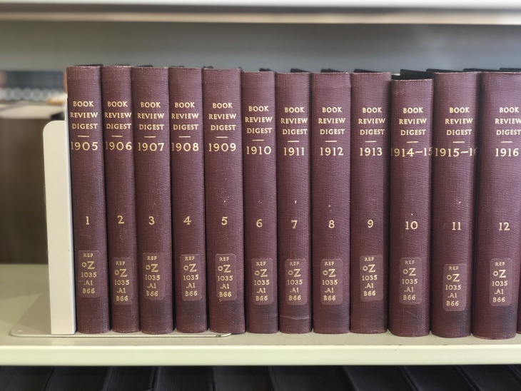 A vital part of the Newberry's visual identity, the Newberry typeface appears on the book bindings of reference sources available on the library's third floor.