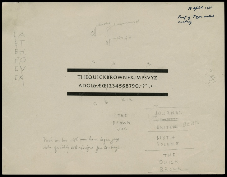 Detterer and Middleton made revisions to the letterforms throughout the design and proofing process.