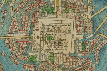 Detail of the 1524 Cortés Map