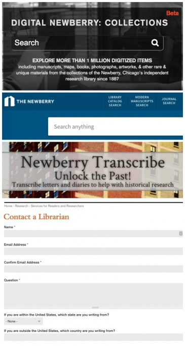 Four Newberry research resources