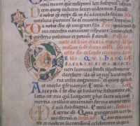Verso from a Cistercian Missal c.1173 VAULT Case MS +7