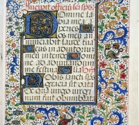 Book of Hours, Use of Rome, Bruges, 1460. Newberry Case MS 39, f. 79r.