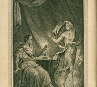 Frontispiece of Bells edition of Shakespeares plays, Julius Caesar. Case PR2752 .B4 1774, vol. 5.