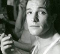 Gene Kelly backstage, Harris Theatre, Chicago, 1939. Taken by Ann Barzel.