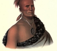 """""""Sharitarish: A Pawnee Chief,"""" by Charles Bird King. Reprinted in Thomas McKenney's History of the Indian Tribes of North America, Vol. I (1836)"""