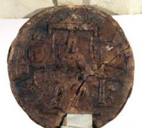 Great Seal of King James I, King of England. Licence for alienation of land, 1616, Newberry Wing MS ZW 1 .616