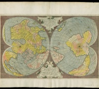 Antoine Lafréry, Double-Cordiform World Map, Newberry Novacco 4F 7.