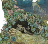 Original artwork for A Midsummer Night's Dream in Childcraft