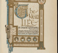 The New Life, by Dante Alighieri, illustrated by Dante Gabriel Rosetti, New York, 1915. Newberry Wing ZP 945 .C37b.