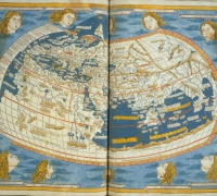 Ptolemy, Cosmographia, World Map, Ayer 6.P9 1482a (VAULT).