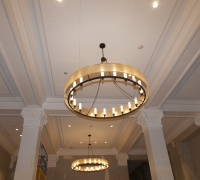 New chandeliers in the lobby