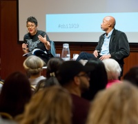 "Scholars Eve Ewing and Ken Warren discuss ""The Language of Bronzeville,"" one of the 11 public programs held in 2019 as part of Chicago 1919: Confronting the Race Riots."