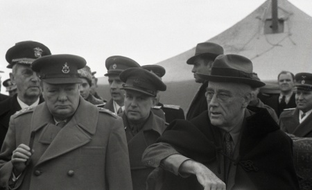 Winston Churchill and Franklin Roosevelt during the Yalta Conference, February 1945. Photograph by Ralph Graham.