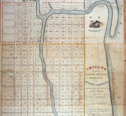 Land Ordinance Map of Chicago, 1834