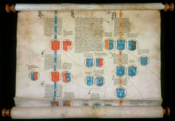 Genealogical roll of the Kings of England & France & the Dukes of Burgundy, 1465, Newberry Vault oversize Case MS 166