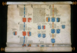 Genealogical Roll of the Kings of England and Dukes of Bourbon. c.1465. Newberr