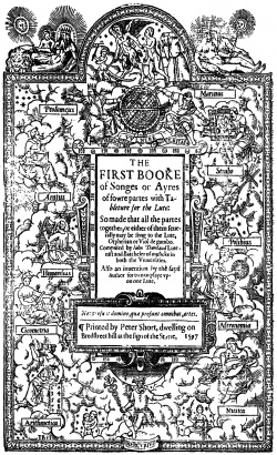 Dowland - First Booke of Songes