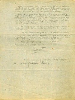 Ernest Hemingway to Sherwood Anderson, 1922; Midwest MS Anderson