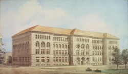 Henry Ives Cobb's rendering of the Newberry building
