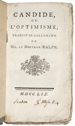 Candide, or Optimism by Voltaire.