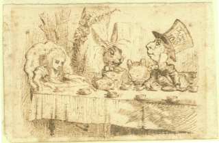 Original illustration by John Tenniel for Alice's Adventures in Wonderland, by Lewis Carroll, first edition 1865.