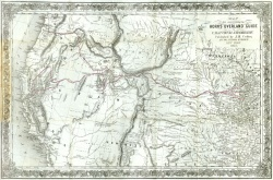 "Hosea B. Horn, ""Map to Illustrate Horn's Overland Guide to California and Oregon,"" in Horn's Overland Guide, from Council Bluffs to the City of Sacremento (New York: J. H. Colton, 1852). Newberry Library. Graff 1954."