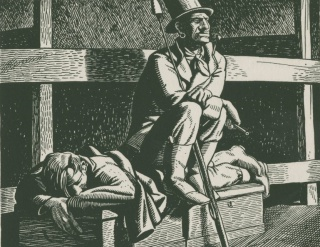 Rockwell Kent illustration for Moby-Dick, 1930