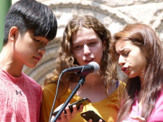 Students from Genesis Academy Summer Institute perform a song