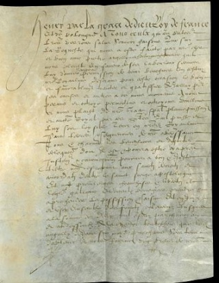 Privilege from Henry IV, Newberry Case MS 5A 48