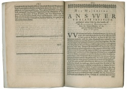 Charles I's Answer. Newberry Library, Case J 5453 .2669 1643–1644.