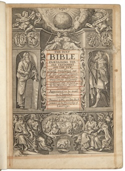 A 1630 edition of the King James Bible
