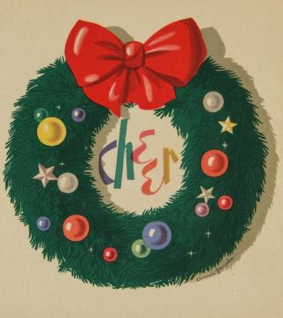 Christmas card from the Elmer Jacob papers.