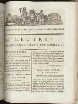 Supplement au No. 73 du Bulletin du Tribunal Revolutionnaire, 1792-95.