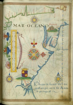 Sebastiao Lopes Atlas. Ayer MS Map 26, folio 22r