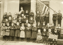 Students from the Concordia School in Addison, IL. 1903.