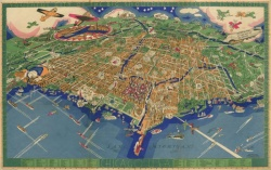 An Illustrated Map of Chicago. Tudor Press (Boston). 1931. Map 6F G4101.C6A3 1931.T8