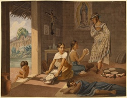 Jean-Frédéric Waldeck. Mexican Women Making Tortillas. c.1834.