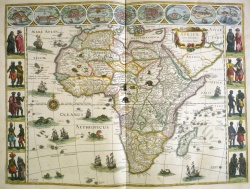 Willem Janszoon Blaeu. Map of Africa, from Le théâtre dv monde. 1640-43.