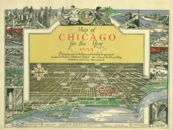 A map of Chicago : incorporated as a town August 5, 1833 / O.E. Stelzer, des. [sic] ; Caroline McIlvaine, historical supervisor. 1933. map2F G4104.C6 S1 1933 .C6
