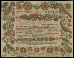 Klaus Stopp, The printed birth and baptismal certificates of German Americans.