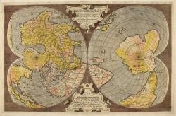Gerhard Mercator and Antoine Lafréry. Double-cordiform world map. c.1550.