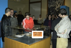 Visitors tour through one of the Newberry's exhibition galleries.