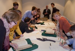 Classes give students the opportunity to work directly with rare books.
