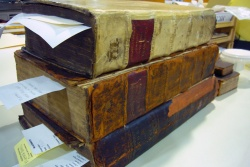 Items awaiting treatment in the department of conservation.