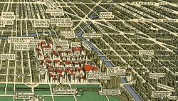 Walter H. Conley. A Map of Chicago. 1933.